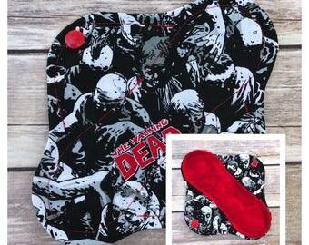 "8"" Walking Dead Zombies Cloth Panty Liner - Mama Cloth"