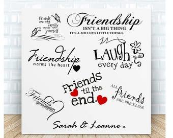 Friendship Quotes Personalised Ceramic Plaque