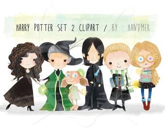 Harry potter set 2 clipart Instant Download PNG file - 300 dpi