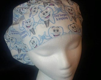 Oral Surgery and Implants Bouffant Surgical Scrub Hat