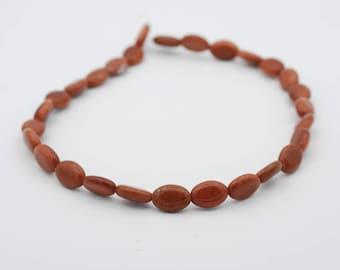 """9x12mm Oval Shape Goldstone bead, 15"""" long"""