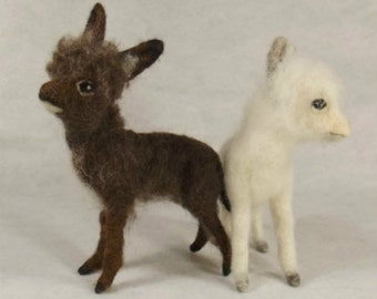 Needle felted animal, Needle felted donkey, Miniature donkey, Needle felted miniature donkey