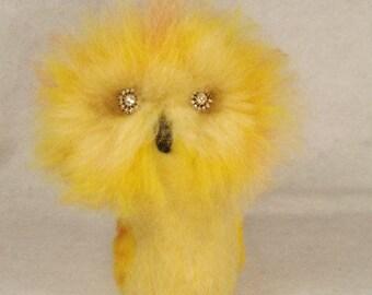 Needle felted animal, needle felted owl,needle felted bird
