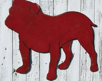 English Bulldog Sign Dog Home Decor English Bulldog Art Dog Room Bulldog Silhouette American Bulldog Sign Dog Lover Wall Decor Dogs Room