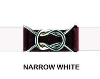 "STRETCH ELASTIC BELT - Narrow White * 3/4"" Width * 3-Sizes for Kids & Adults *  Adjustable on Both Sides"