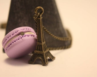 Macaron necklace in polymer clay