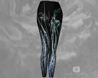 Printed Leggings Womens Tight Yoga Pants Ladies Workout Leggings Nature Print
