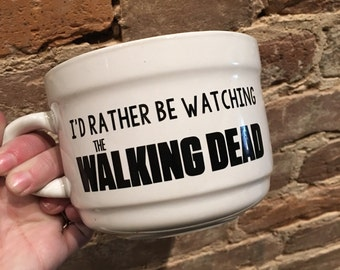Walking Dead, Id rather be watching the walking dead, coffee mug