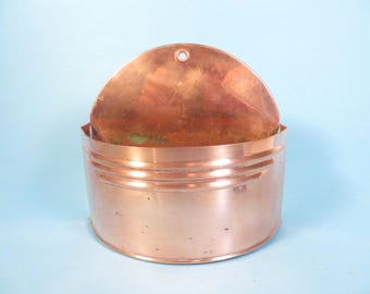 Vintage Copper Planter Pot - Vintage Wall Copper Planter