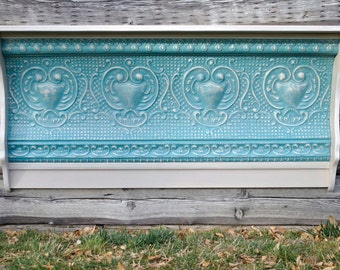 Tin Ceiling Tile Antique Tin Wall Shelf Vintage Rustic Farmhouse Country Antique Shabby Chic Living Room Dining Room Decor SH146