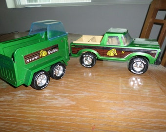 Vintage 1970's Ny-Lint Stables Truck with Horse Carrier