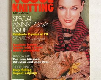 Vintage 1990s Magazine Vogue Knitting Fall 1997 International Autumn Winter Magazine