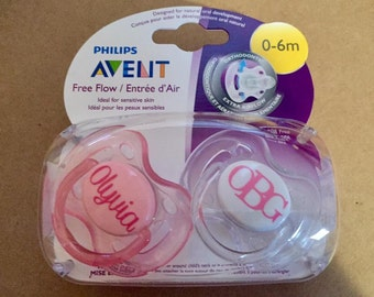 Personalized Binky - Monogram Pacifier - Initial Binky - Name Pacifier - Baby Shower Gift