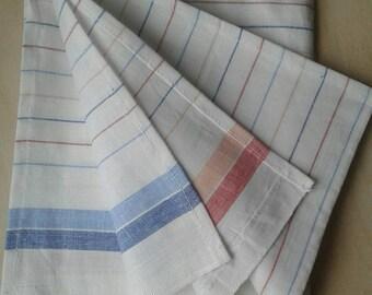Vintage Soviet cotton kitchen towel, Soviet Union, USSR, 1980s