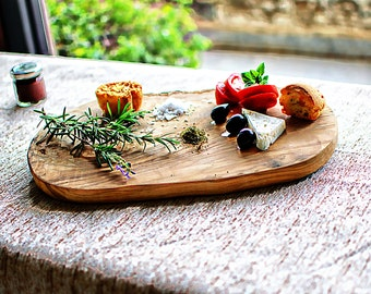 Rustic handmade board, Busy board, Olive Wood Cutting Board from 200 year old tree, Artisan wood, Unique piece, Olive Plank, Wedding Gift