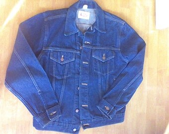 Jean Jacket, With Love from Alabama, 1984 Size M, Denim Coat,