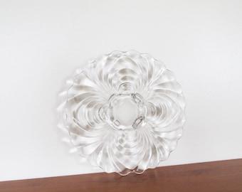 Cambridge Glass Caprice Elegant Glass 4-Toed Torte Plate