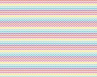 Pastel multi color and white small spring chevron craft  vinyl sheet - HTV or Adhesive Vinyl -  zig zag pattern HTV4502
