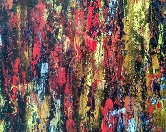 """Abstract colorful acrylic painting on canvas 16*20"""""""