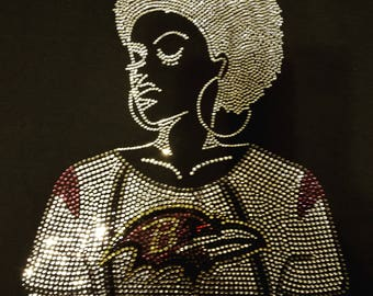 Baltimore Ravens- Afro Lady