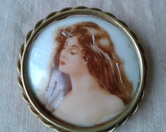 "Brooch ""Limoges"" of time porcelain ""Art Déco"""