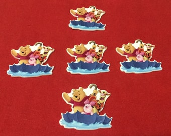 Set of 5 Winnie the Pooh Flat Back Resin