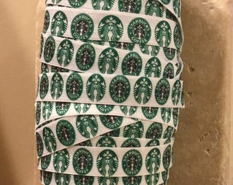 5 YDS Starbucks Elastic Ribbon FOE
