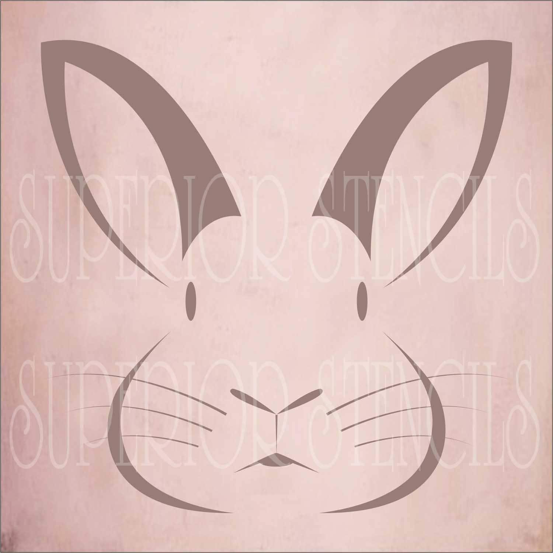bunny rabbit reusable stencil 2 pc 9 size options