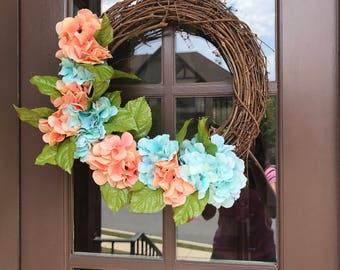 Wreath orange and blue