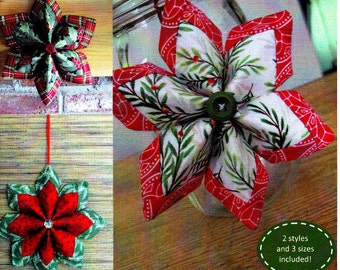 Fold n stitch wreath page 4 - Pattern Quot Holiday Stars Quot Pqd 215 By Poorhouse Quilt
