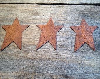 "2"" Rusty Tin Star. Package of three (3). Tin Stars. Rusty Tin. Metal Stars. Rusty Metal Stars. Rusty Stars. Rusty Tin Embellishments."