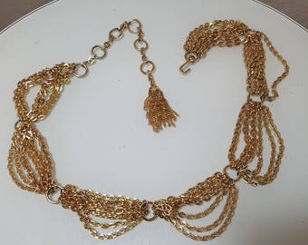 FREE  SHIPPING  1980 Gold  Chain  Belt
