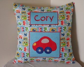 Personalised Cars cushion cover