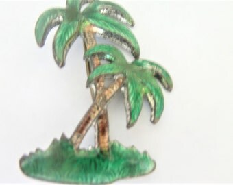 Vintage Palm Tree Brooch / Pin / Tropical Brooch / Pin / Palm Tree  Jewelry / Beach Brooch / Pin / Beach Jewelry /