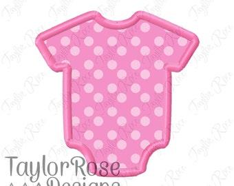 Baby Jumper Onesie Applique Machine Embroidery Design 4x4 5x7 6x10 INSTANT DOWNLOAD