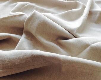 1 1/4 Yards Beige Linen Cotton Blend