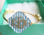 ON SALE NOW - 15% off Mothers Day Gift   Monogram Bracelet, Engraved Monogram Bracelet, Monogammed Bracelet, Engraved Monogram