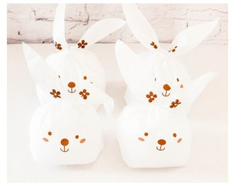 10 Long Eared Rabbit Favour Gift Party Bag Eco-Friendly//Easter Favour Bag//Party Favour//Sweet Bag//Cookie Bag//Bakery Packaging