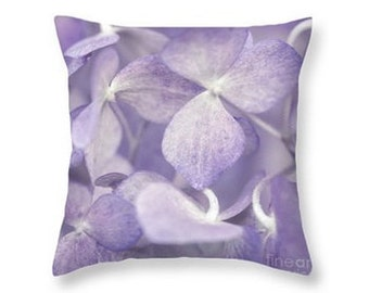 Purple Flowers Throw Pillow, Botanical Print Pillow, Flower Photography, Nature, Home Decor, Nursery Decor Lavender, Lilac -NO. 0968