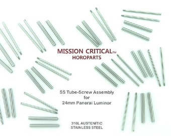Suissetek MC Horoparts 20 Tubes & 20 Screws For Panerai - 22mm,24mm,OR 26mm