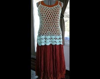 Crochet Cami Top - Crochet Floral Cami - Open crochet, lacy - many colors