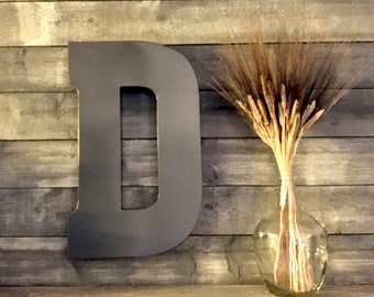 Large Metal Letter - Big Letter - Wall Letters - Rustic Decor - Wall Decor - Distressed Letters - Wedding decor