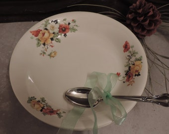 "Vintage Crooksville China Ivora 1938 Set of 2 Salad, Soup Bowls Two 8.25"" Bowls"