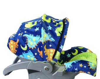 Infant Car Seat Cover-Dino's