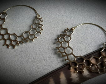 brass earrings *bee*