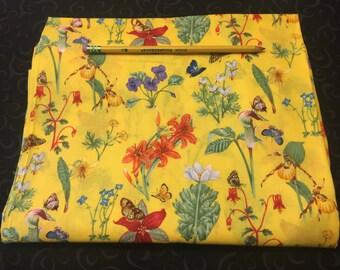 Rainbow Filigree Butterflies Pencil Case, Coin Purse, Wristlet, Cosmetic Bag #44