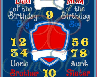 Paw Patrol SVG Dog Bone Shield Boy Girl Number Birthday Party Sign Shirt Mom Fall Dad DXF Brother Sister Cup Love Son Halloween Life 2017.