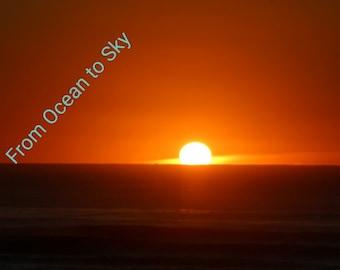 Photograph: Oregon coast Sunset