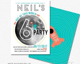 """Out of This World Invitation 