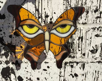 Traditional Colored Stained Glass Butterfly